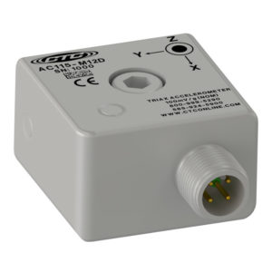 CTC triaxial accelerometer side M12